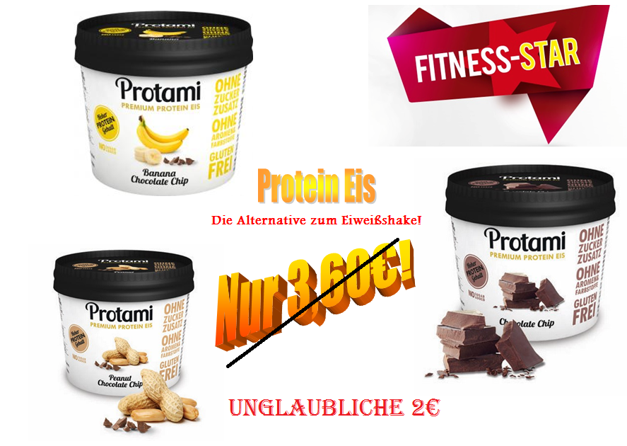 protami protein eis jetzt f r 2 euro fitness star. Black Bedroom Furniture Sets. Home Design Ideas
